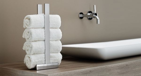 Giese Gifix 21 Gästehandtuchhalter für gerollte Handtücher, Standmodell, chrom