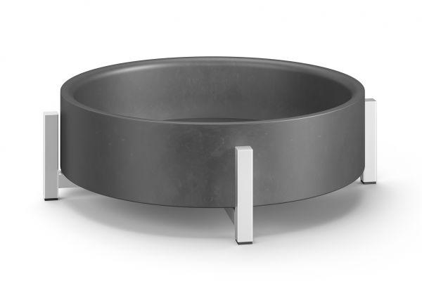 ZACK PERTO Schale, beton/edelstahl